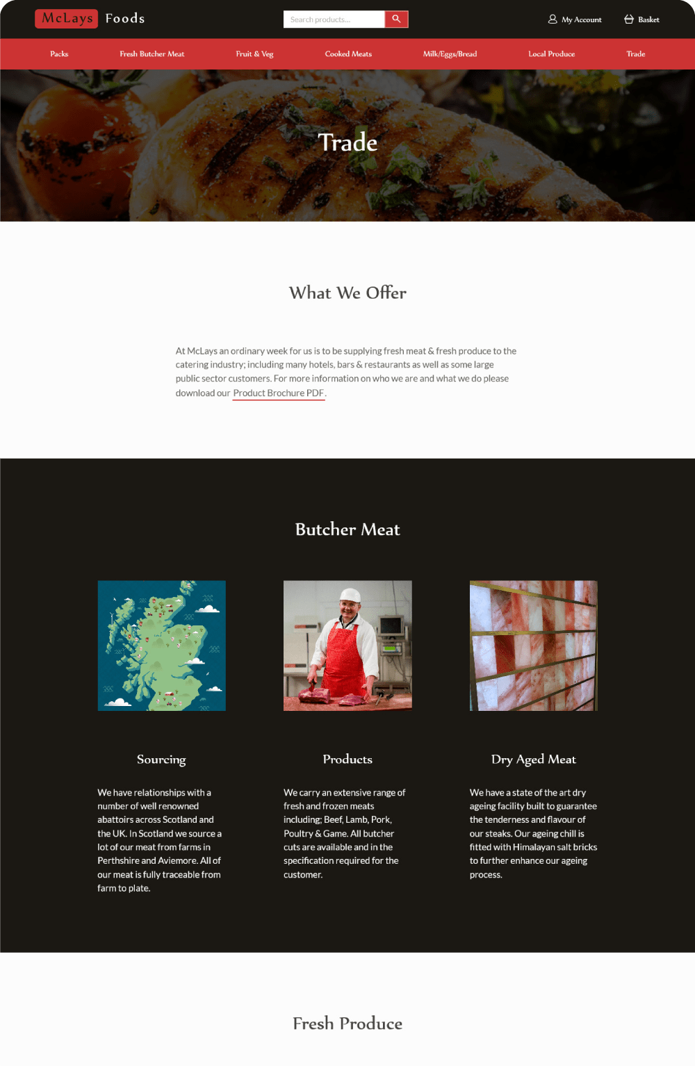 McLays trade page on desktop