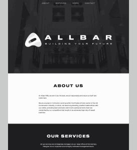 Allbar home hero on desktop