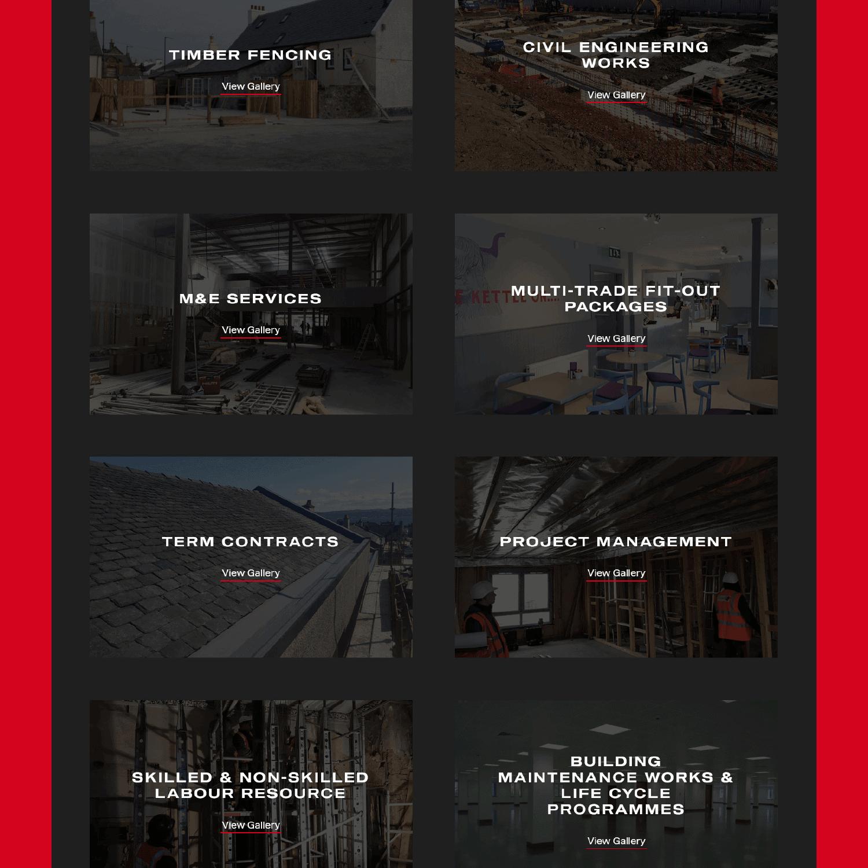 Allbar services section on desktop
