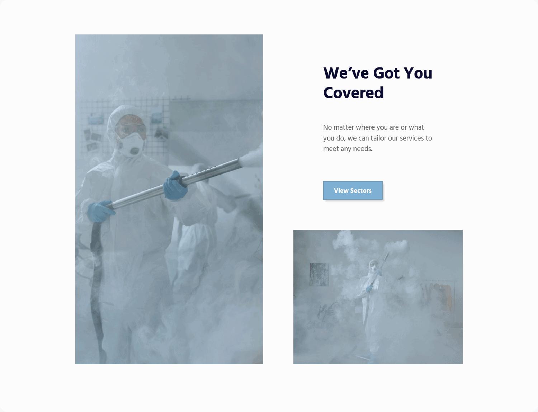 SANO Wellbeing Services block on desktop